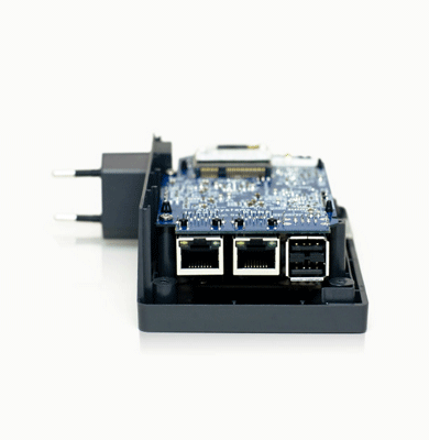 we developed a multifunction mini-server for solving a wide range of tasks in IP networks, functions as a computer or a server