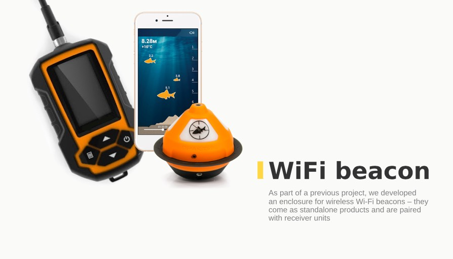 developed an enclosure for wireless Wi-Fi beacons - they come as standalone products and are paired with receiver units