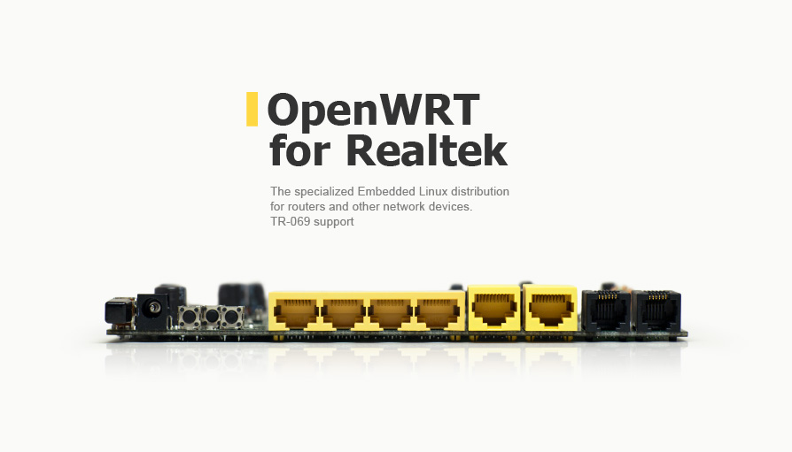 specialized Embedded Linux distribution for routers and other devices