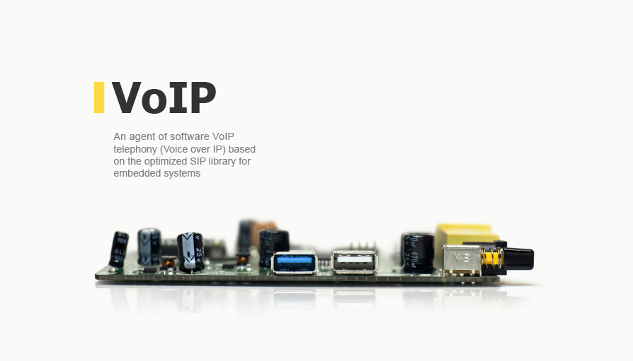 An agent of software VoIP telephony ( Voice over IP ) based on the optimized SIP library for embedded systems