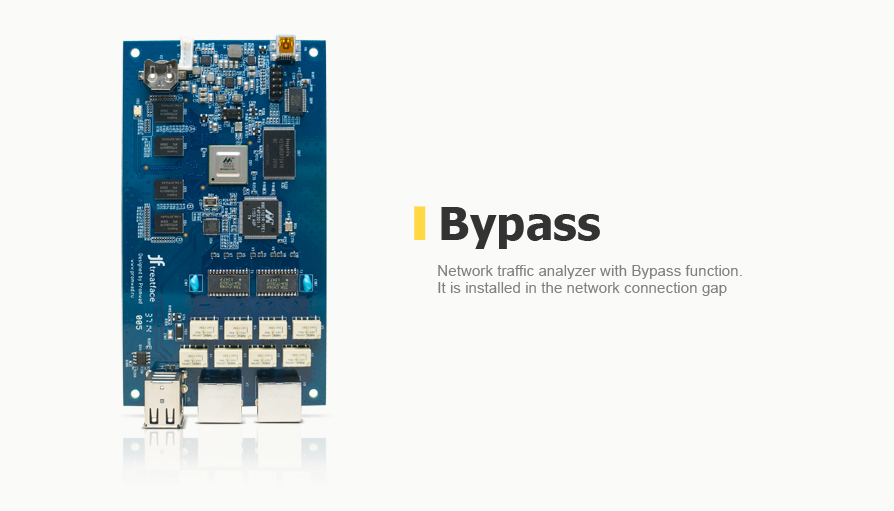 Network traffic analyzer with Bypass function