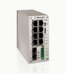 A model range of industrial managed gigabit switch equipment with 8 and 16 ports